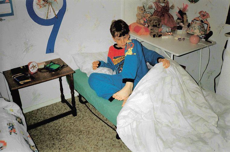 Berend Jan in zijn slaapkamer op Ameland. Beeld