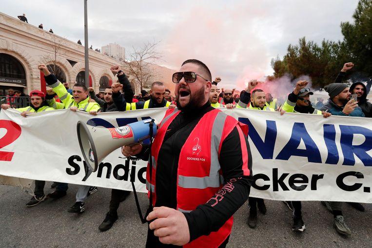 Demonstraties in Marseille. Beeld EPA
