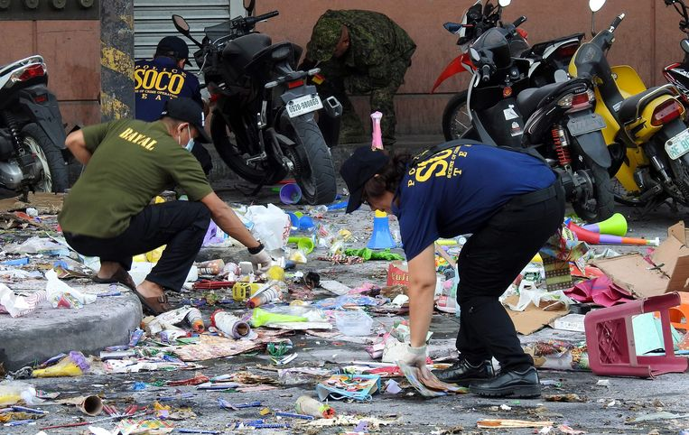 Aan een winkelcentrum in het Filipijnse Cotabato ontplofte een bom.