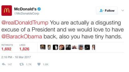 Hackers nemen officiële McDonald's-account over en zetten aanval in op Trump