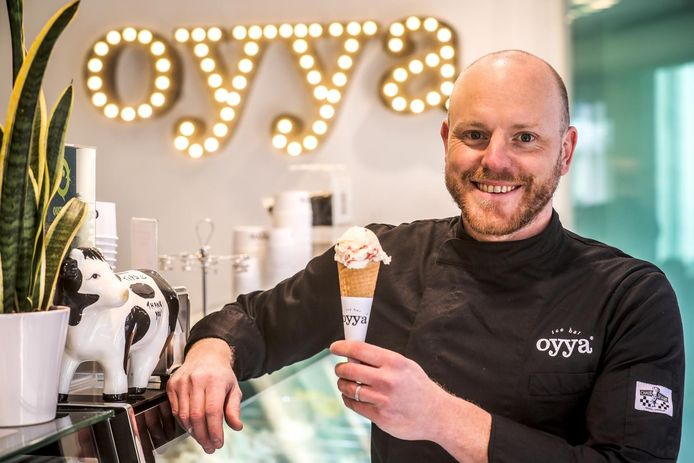 Mathieu Eyckmans werd Europees kampioen 'gelato' met zijn ijs op basis van Gorgonzola.