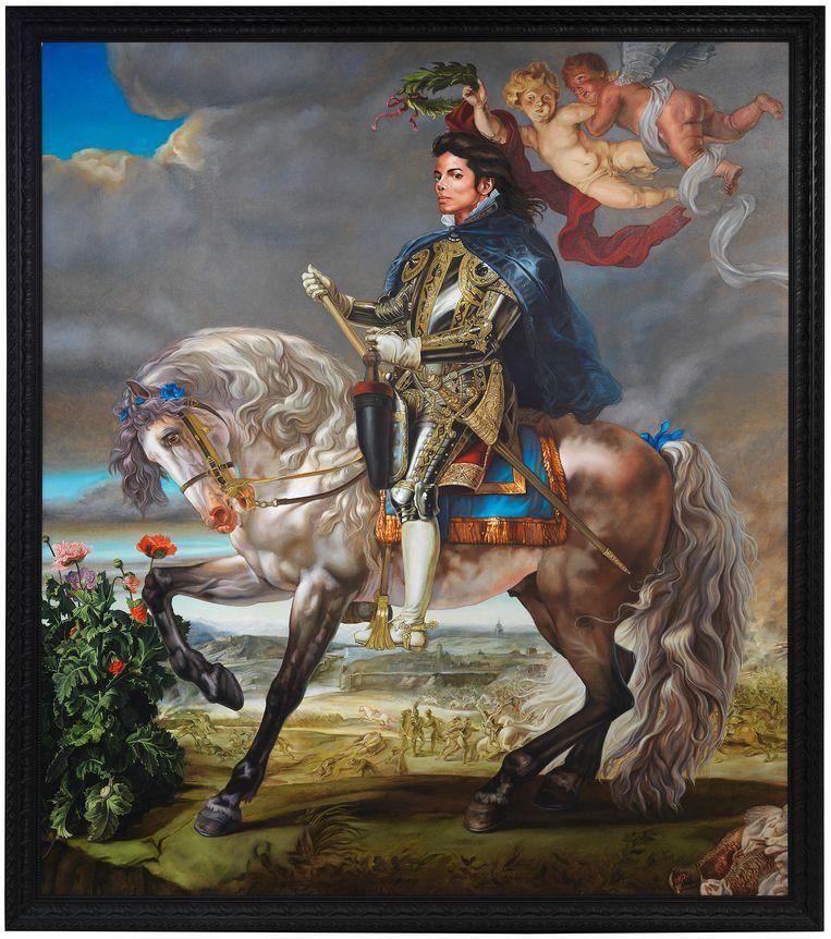 Equestrian Portrait of King Philip II van Kehinde Wiley, 2009. Beeld Kehinde Wiley / National Portrait Gallery Londen. Foto: Serge Hasenböhler