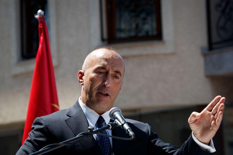 De afgetreden premier Ramush Haradinaj. Beeld EPA
