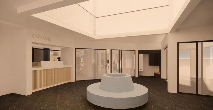 3D-beelden hoe het stadhuis er na de verbouwingen zal uitzien.