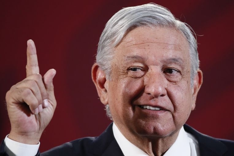 De Mexicaanse president Andrés Manuel López Obrador Beeld EPA