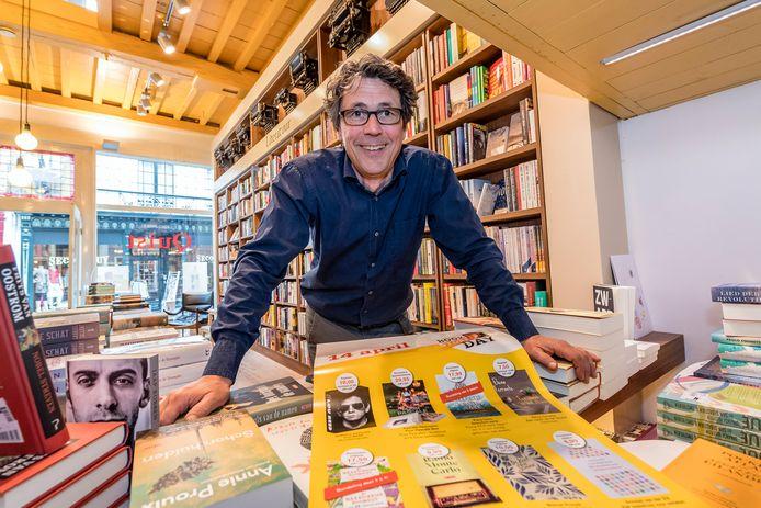 De Bergse boekhandelaar Ad Quist.