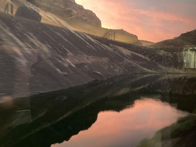 Snapshot vanuit de trein. Beeld rv