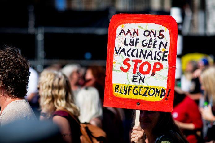 Demonstratie tegen het coronabeleid in Amsterdam.