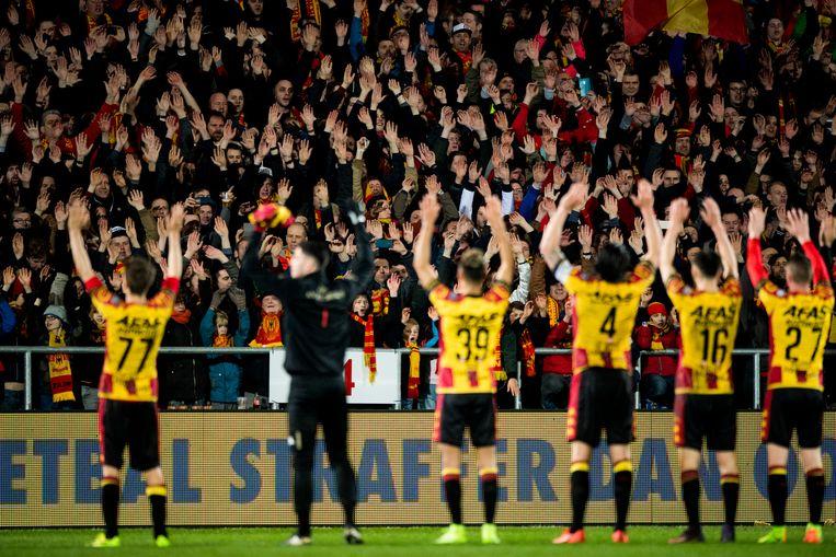 Zaterdag won KV Mechelen thuis met 3-2 van Anderlecht. Beeld BELGA