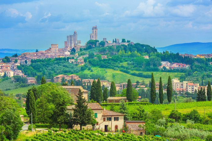De vrouw maakte een fietstocht in de buurt van San Gimignano. Tijdens een steile afdaling liep het fout.