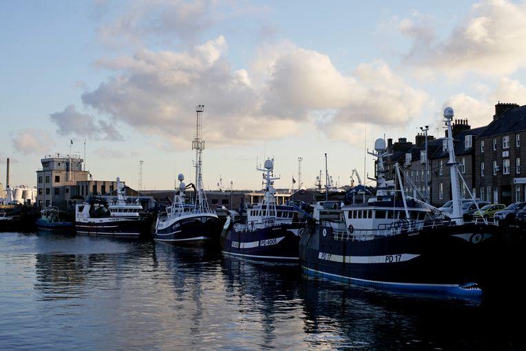 Blik op de haven van Peterhead.  Beeld AFP