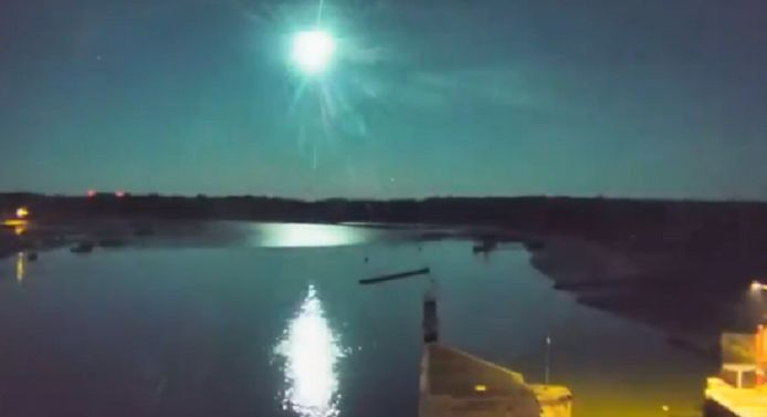 Le météore aperçu en Bretagne
