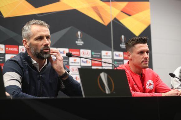 Marco Rose en Zlatko Junuzovic.