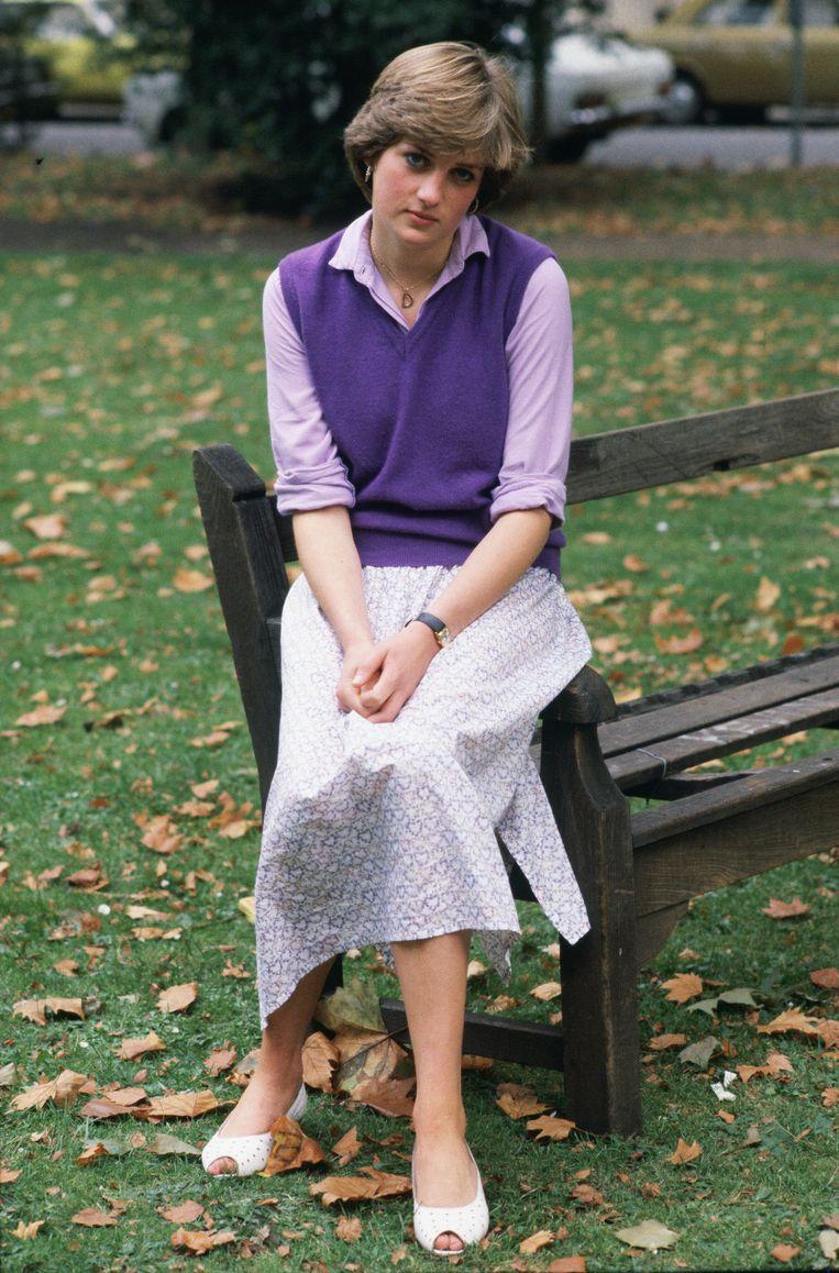 Een jonge Lady Diana Spencer in een spencer. Beeld Getty