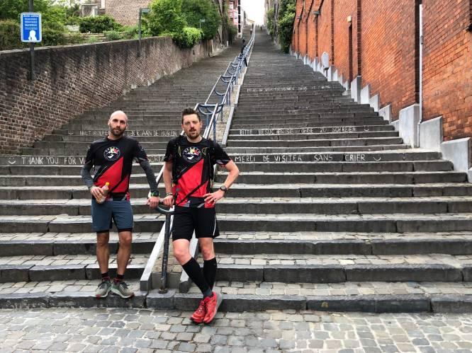 Vlaamse ultralopers willen 333 keer na elkaar Montagne de Bueren (374 treden) op- en aflopen
