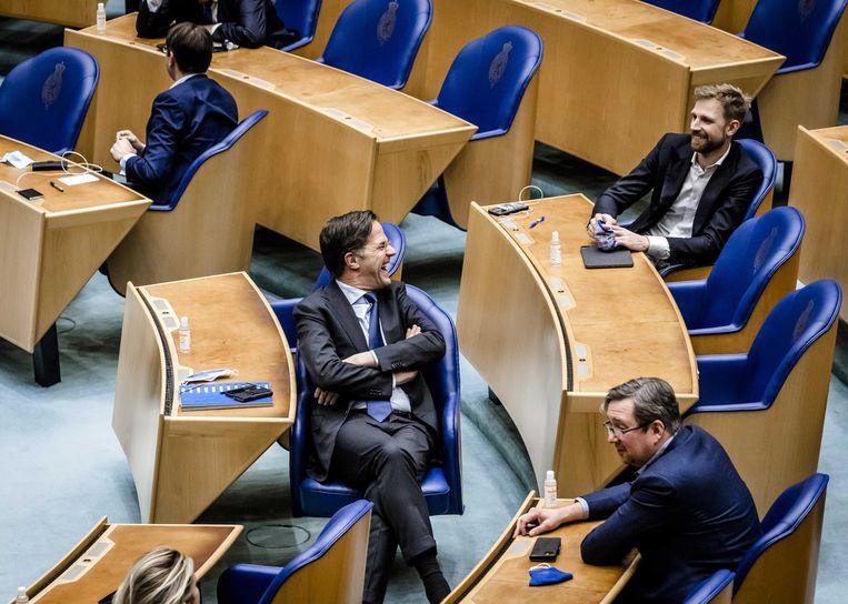 Mark Rutte vindt zichzelf best in staat om de positie van de Tweede Kamer te verbeteren.  Beeld ANP