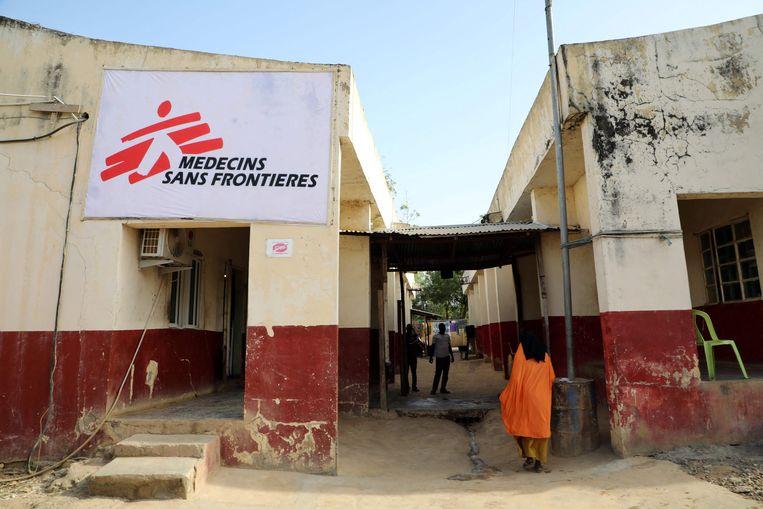 Een post van Artsen zonder Grenzen in Anka, Nigeria. Beeld AFP