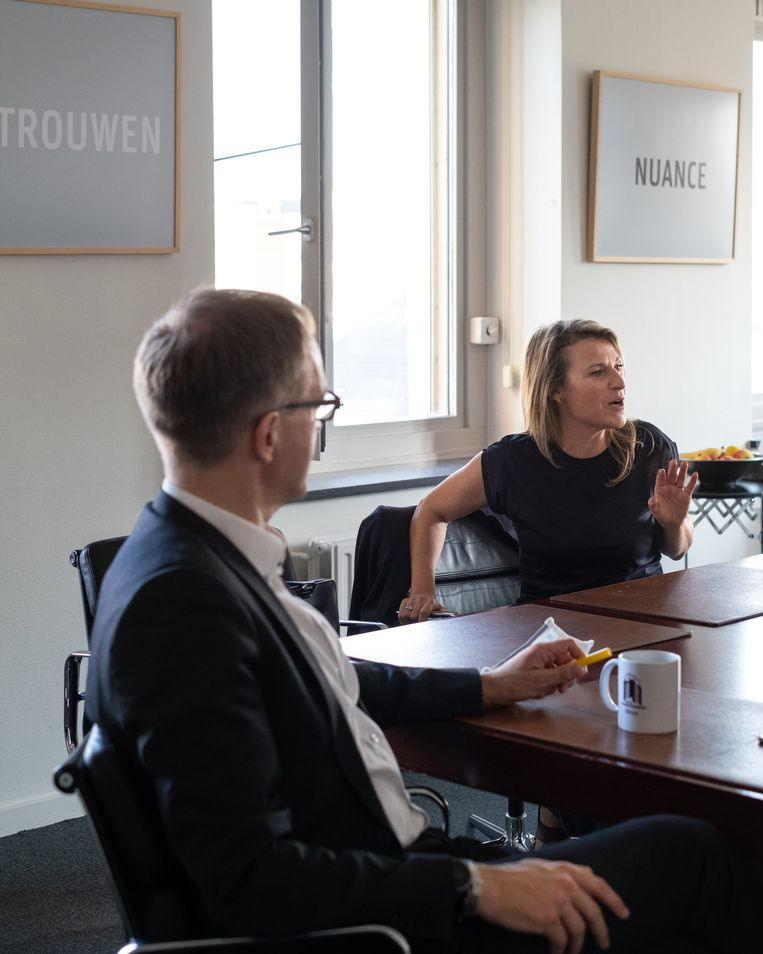 Rik Van de Walle en Ann Brusseel. Beeld Wouter Maeckelberghe