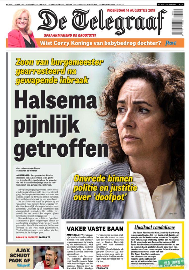 In de zomer van 2019 bericht De Telegraaf dat de minderjarige zoon van Halsema is opgepakt wegens het bezit van een (onklaar gemaakte) revolver. Beeld
