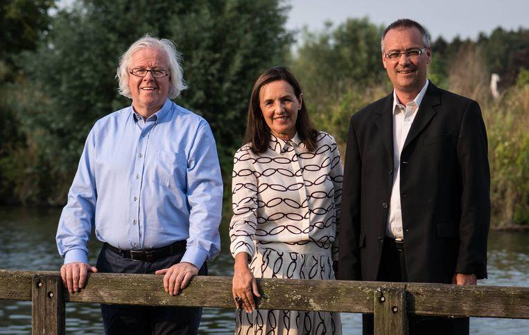 Lijsttrekkers Freddy Byn, Agnes Lannoo-Van Wanseele en Kristof Vanden Berghe