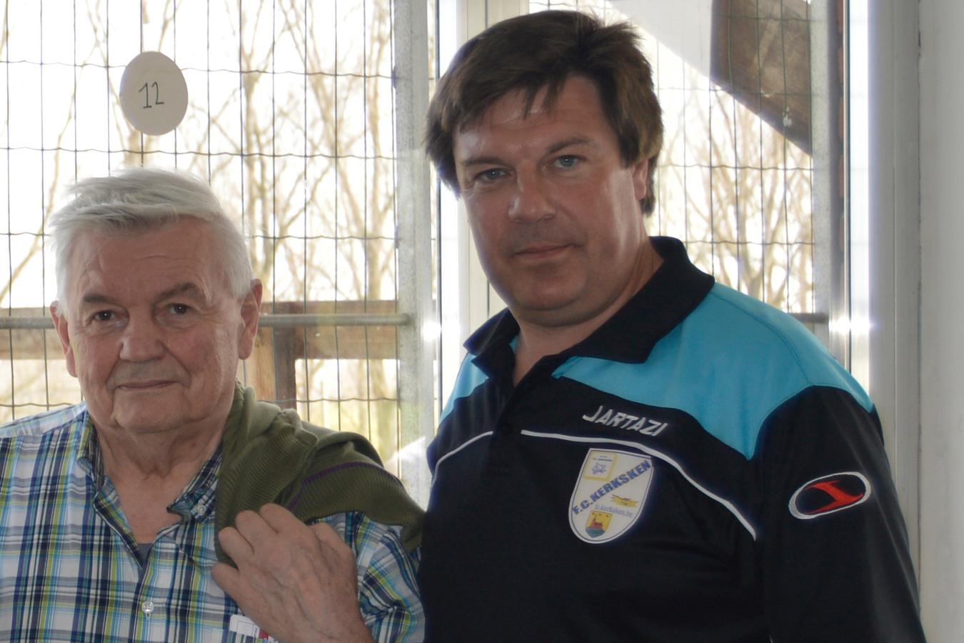 Secretaris Patrick Marginet (rechts) met Willy Impens. (archiefbeeld)