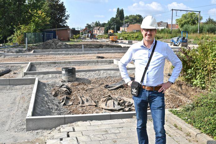 De parking in de Gasstraat in Wervik zou tegen half november klaar zijn.