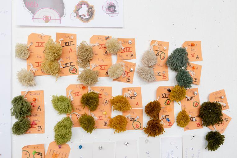 Stalen wol in het atelier van Lizan Freijsen. Beeld Pauline Niks