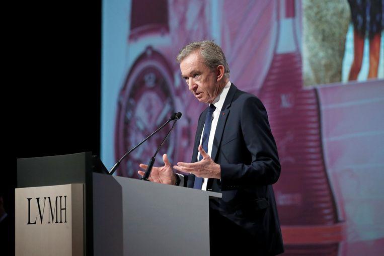 Bernard Arnault in Parijs tijdens een aandeelhoudersvergadering eerder deze maand.