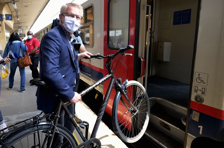 Minister van Mobiliteit Georges Gilkinet (Ecolo). Beeld BELGA