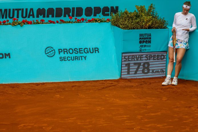 Kiki Bertens verloor in Madrid van Veronika Koedermetova.