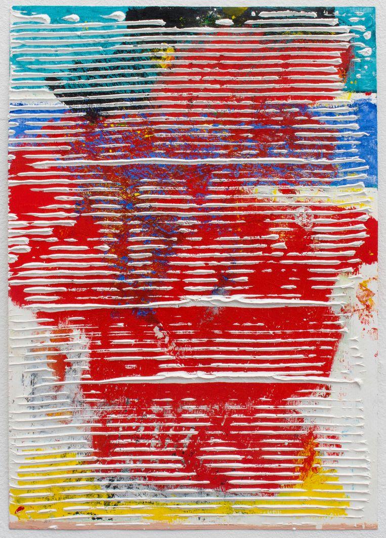 Koen Delaere – Untitled 09, The Paper Series (2018), Galerie Gerhard Hofland. Beeld Koen Delaere