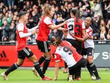 Historische Klassieker: Feyenoord-vrouwen lopen over Ajax heen na rood Van der Gragt