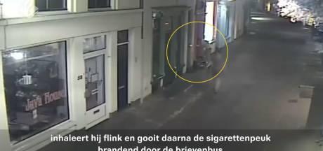 Wie gooit er nu een brandende sigaret door een brievenbus van een huis?