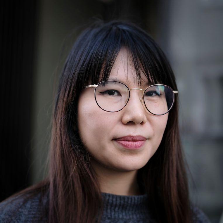 Sarah Kim stemt FDP. Beeld Daniel Rosenthal