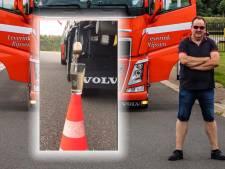 Twentse trucker gaat wereld over met 'theezakchallenge': 'Pure stuurmanskunst'