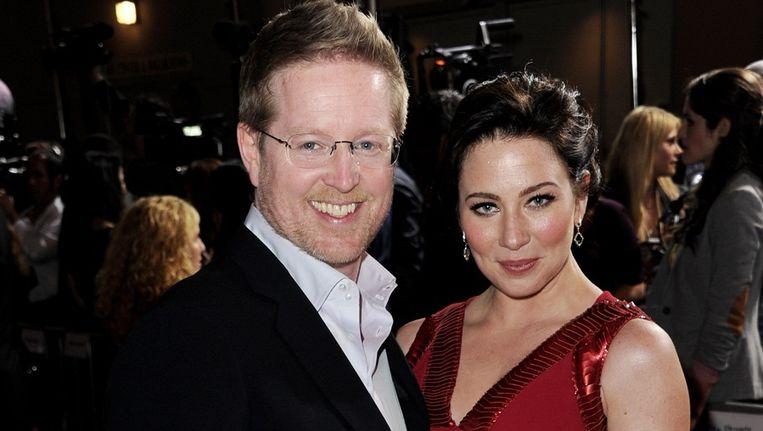 Regisseur Andrew Stanton en Lynn Collins, prinses Deja in 'John Carter'. Beeld UNKNOWN