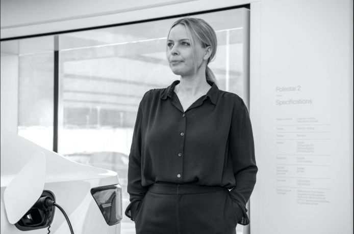 Fredrika Klarén, hoofd duurzaamheid bij autofabrikant Polestar.