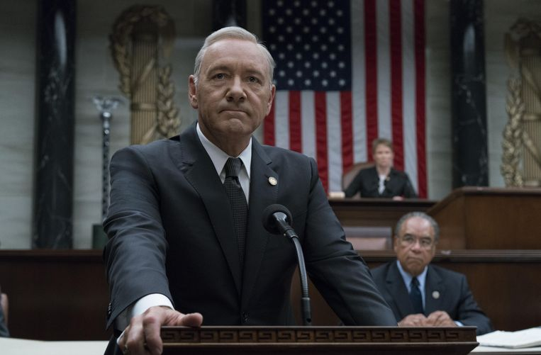 Kevin Spacey in House Of Cards. Beeld © David Giesbrecht / Netflix/The