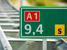 Ongeluk op A1 bij Baarn: 10 kilometer file