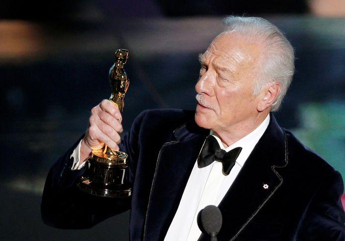 Christopher Plummer met z'n Oscar voor 'Beginners'