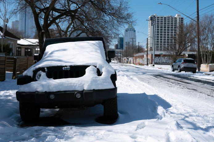 De Amerikaanse stad Austin heeft te maken met extreem winterweer.