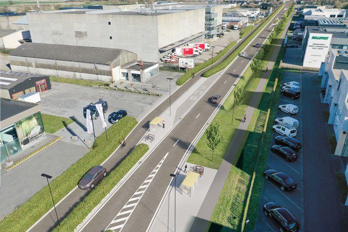 Enkele beelden van hoe de Pannestraat er tegen eind 2023 uit zal zien.