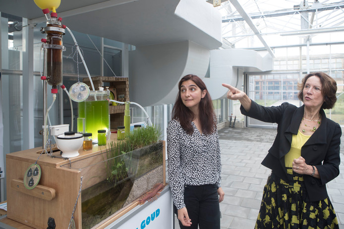 Louise Vet (rechts) staat bovenaan in de Duurzame Top 100