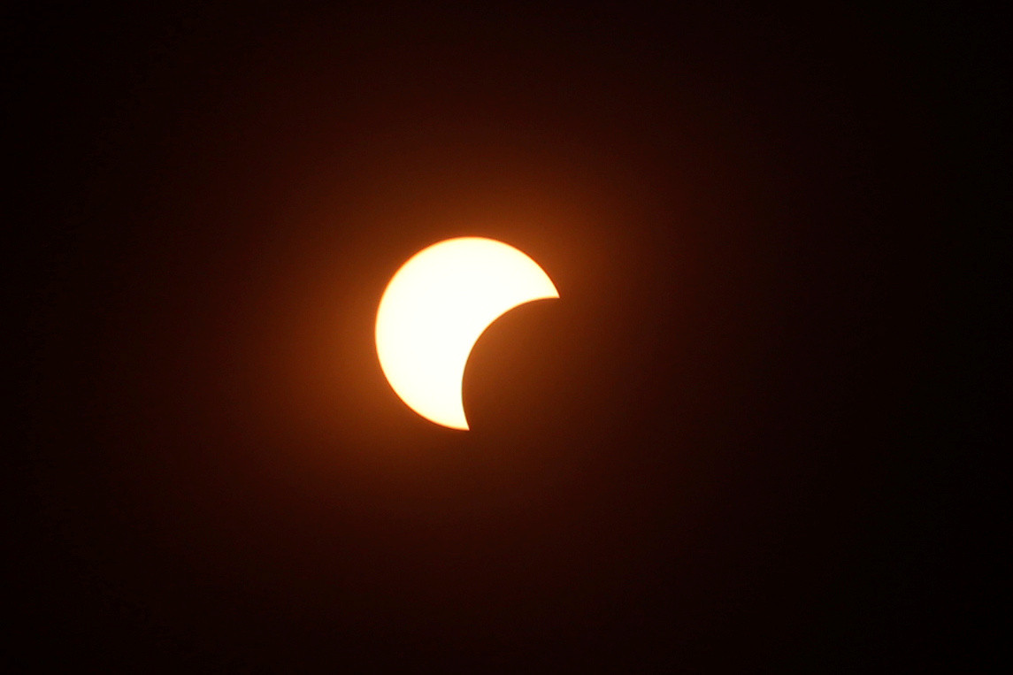 Illustration d'une éclipse solaire partielle