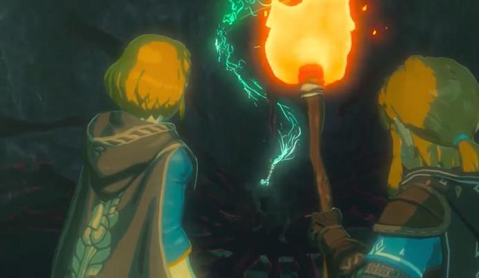 Link en Zelda in een screenshot van de tailer