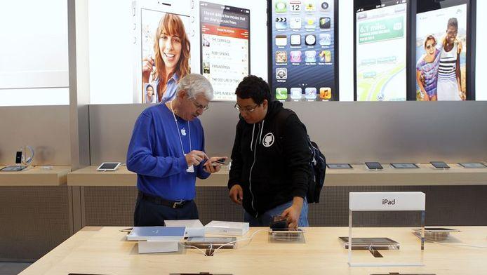 Een Apple Store in Palo Alto, Californië.