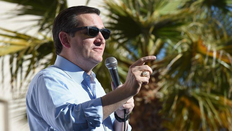 Ted Cruz maandag op campagne in Nevada. Beeld AFP