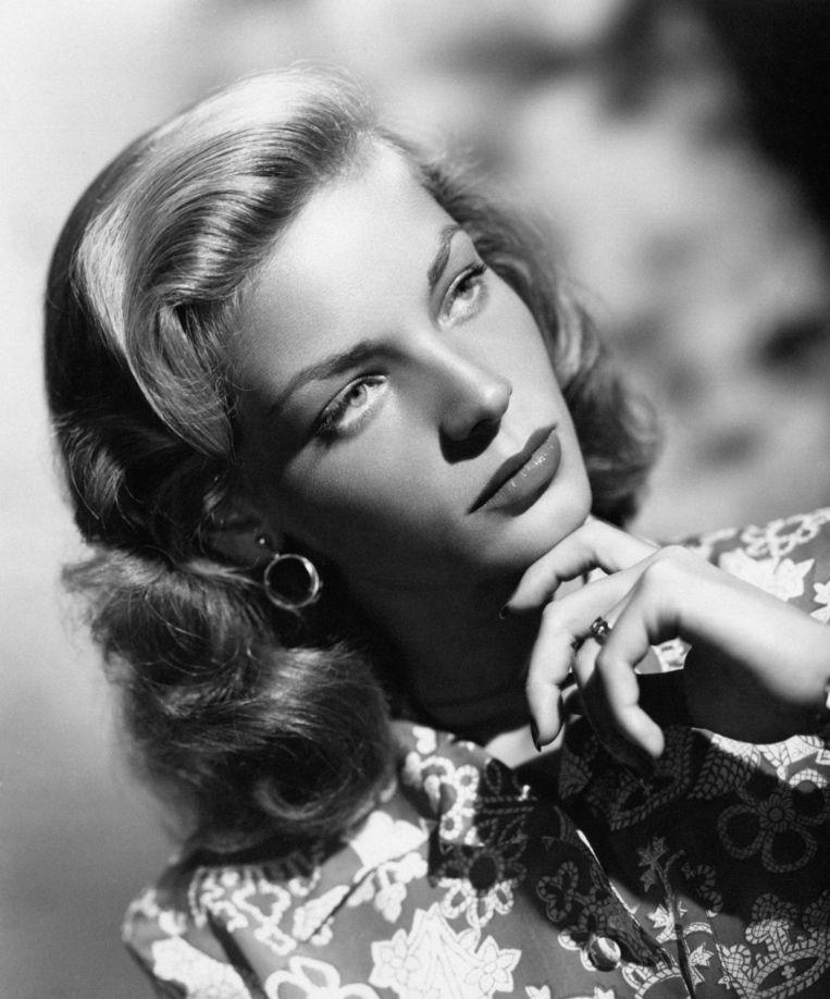 Lauren Bacall, echte naam Betty Jane Perske, poserend in de jaren '40. Beeld getty