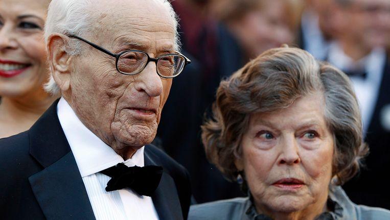 Eli Wallach met zijn vrouw, actrice Anne Jackson. Beeld REUTERS