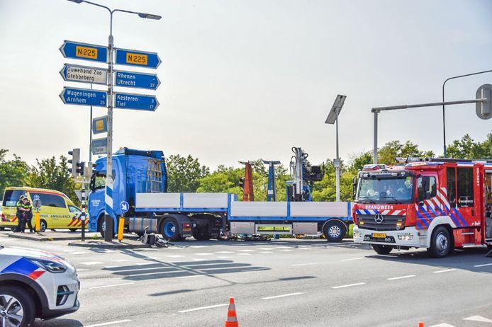 Hulpdiensten bij het ongeval donderdagmiddag.